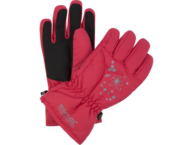 Regatta Arlie II Wasserdichte Handschuhe Kinder bright blush